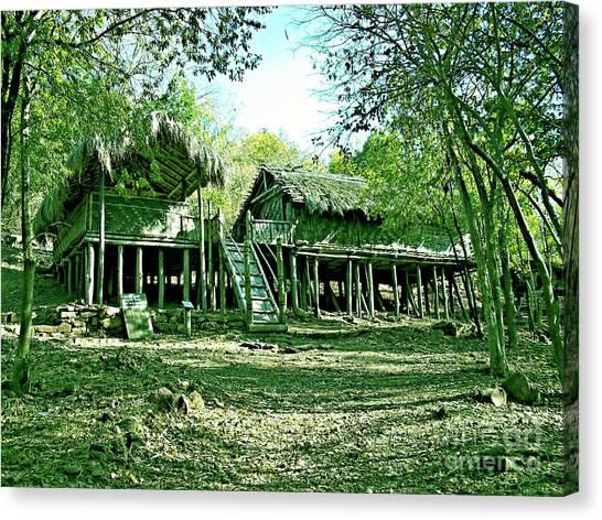 Bamboo House Canvas Print by Ankit Sagar