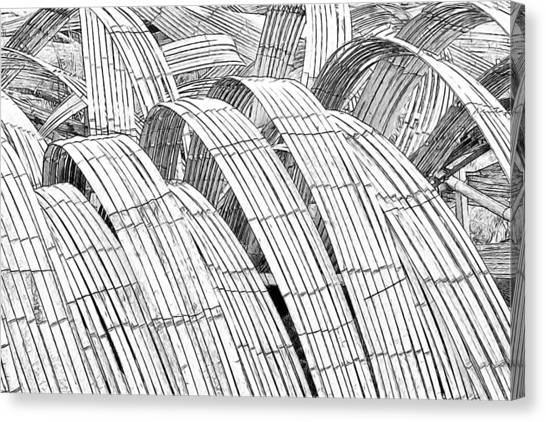Kizuna Canvas Print - Bamboo by John VonTempske