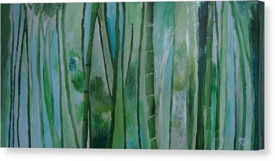 Bamboo Jungle Canvas Print by Jessie Nolan