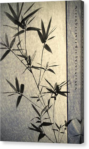 Bamboo Leaves Canvas Print