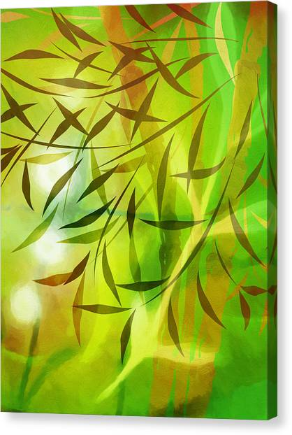 Yogi Canvas Print - Bamboo Light by Lutz Baar