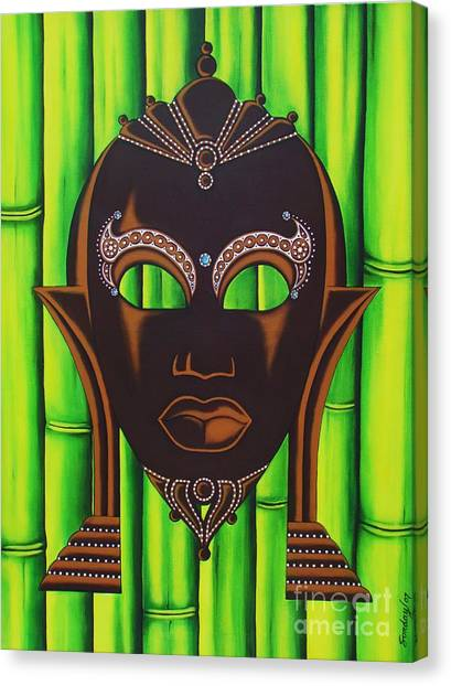 Bamboo Mask Canvas Print