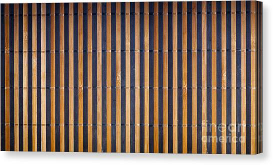Matting Canvas Print - Bamboo Mat Texture by Tim Hester