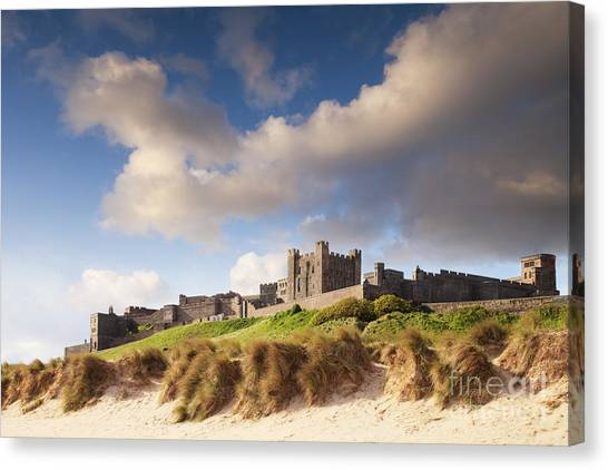 Sand Castles Canvas Print - Bamburgh Castle Northumberland England by Colin and Linda McKie