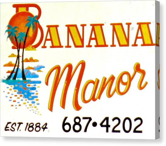 Banana Manor Canvas Print