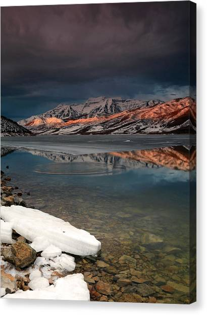 Band Of Light Over Deer Creek. Canvas Print