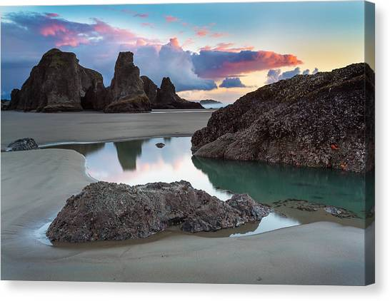 Beach Sunsets Canvas Print - Bandon By The Sea by Robert Bynum