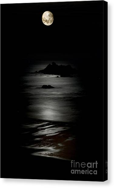 Bandon Moonset Canvas Print