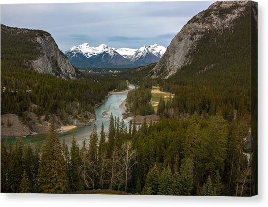 Banff Springs In Spring Canvas Print