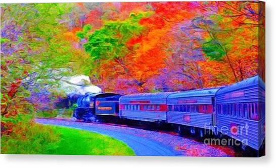 Bang Bang Choo Choo Train-a Dreamy Version Collection Canvas Print