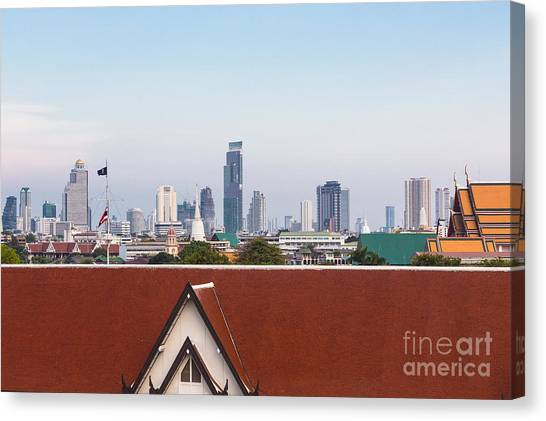 Bangkok Modern Vs Traditional Canvas Print