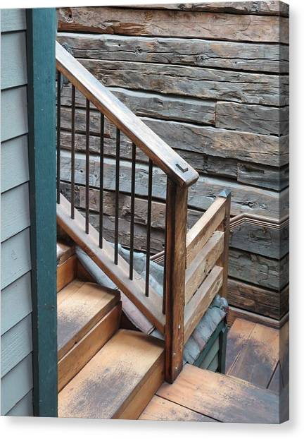Banister Canvas Print by Don Barnes