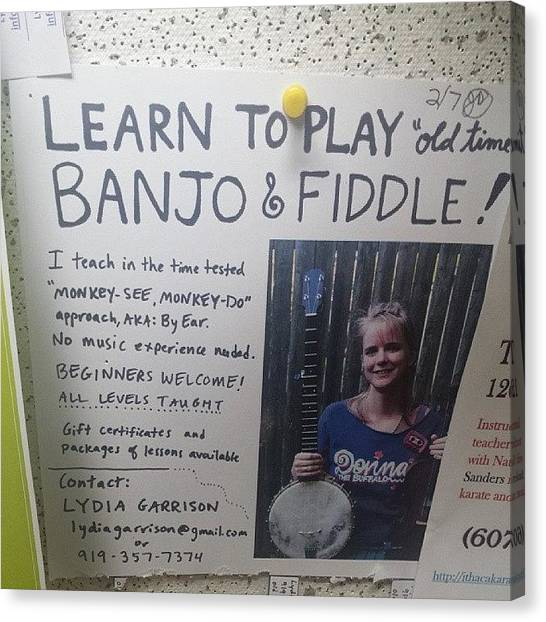 Banjos Canvas Print - #banjo #fiddle by M Hurley