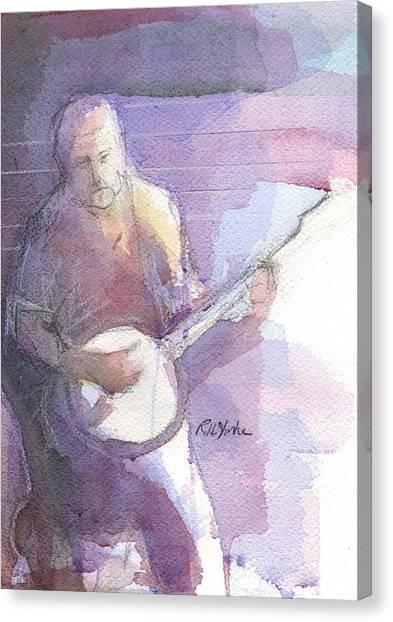 Bluegrass Canvas Print - Banjo Jam by Robert Yonke