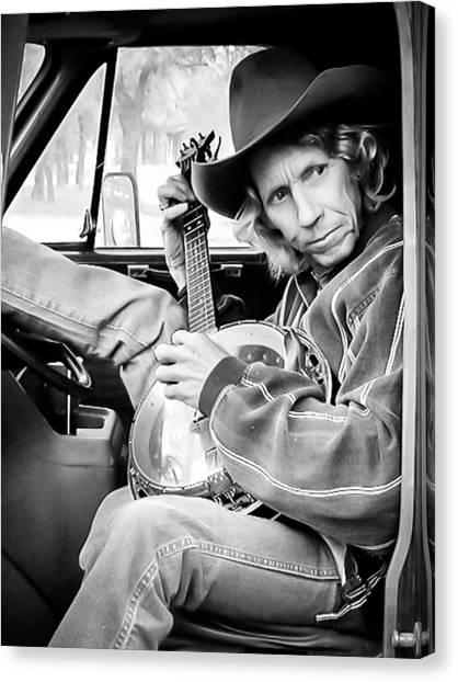 Banjos Canvas Print - Banjo Man by Darryl Dalton