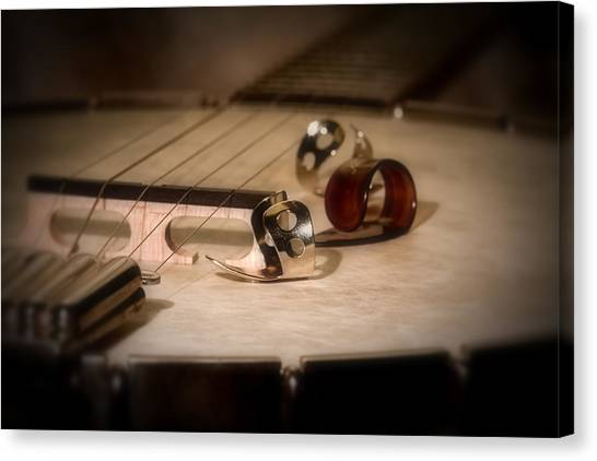 Percussion Instruments Canvas Print - Banjo by Tom Mc Nemar