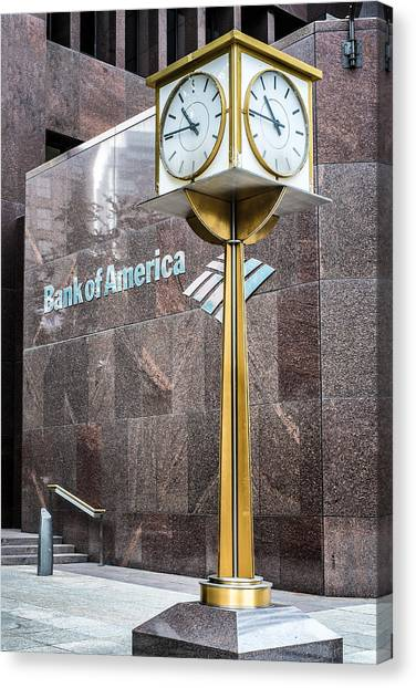 Bank Of American Building In Boston Canvas Print
