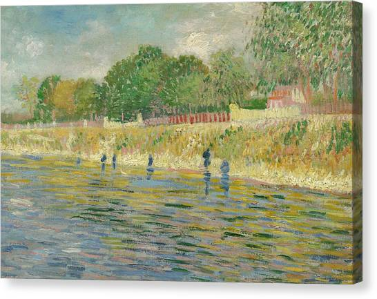 Post-impressionism Canvas Print - Bank Of The Seine by Vincent van Gogh