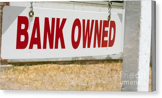 Bank Owned Real Estate Sign Canvas Print