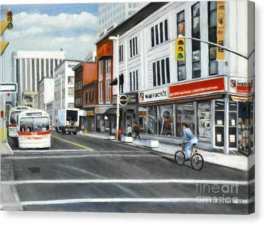 Bank Street Ottawa Canvas Print