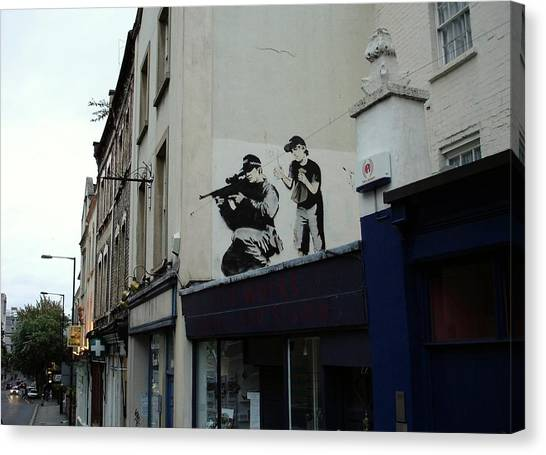 Hip Hop Canvas Print - Banksy In Bristol by Arik Bennado
