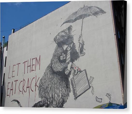 Hops Canvas Print - Banksy Let Them Eat Crack In Manhattan by Arik Bennado