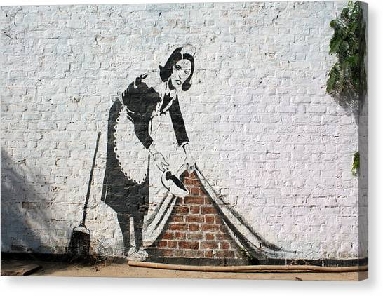 Hip Hop Canvas Print - Banksy Sweep by Arik Bennado