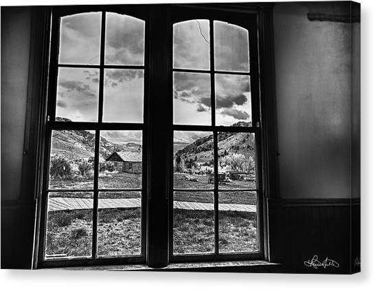 Bannack Window Canvas Print