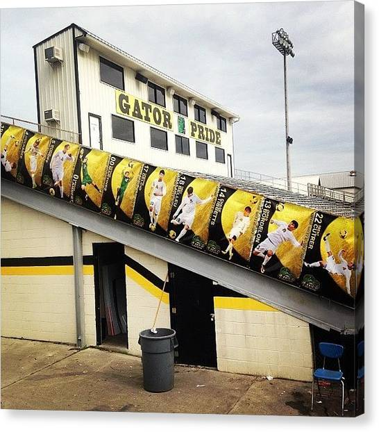 Soccer Canvas Print - Banners Are Up!! #pit #soccer #gators by Scott Pellegrin