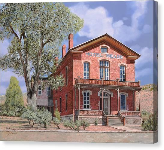 Montana Canvas Print - Bannock-montana-hotel Meade by Guido Borelli
