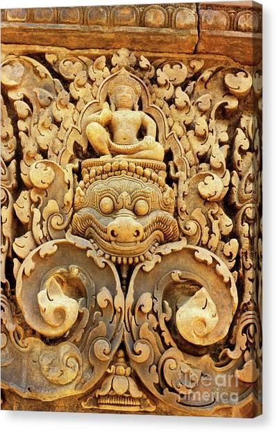 Banteay Srei Carving 01 Canvas Print
