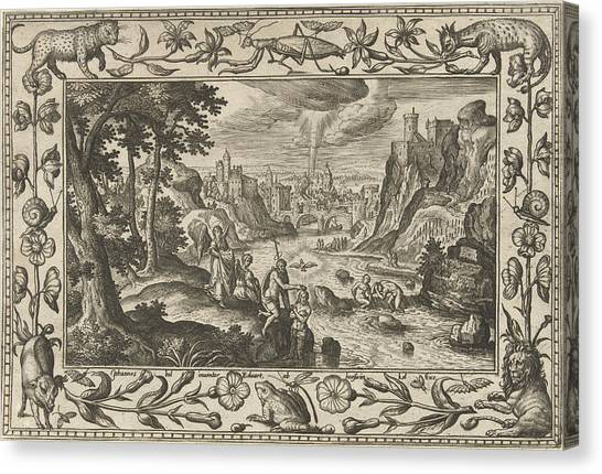 River Jordan Canvas Print - Baptism Of Christ, Adriaen Collaert, Eduwart Van Hoeswinckel by Adriaen Collaert And Eduwart Van Hoeswinckel