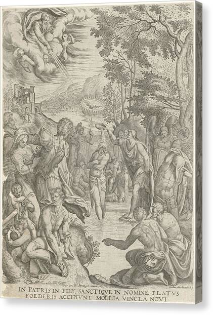 River Jordan Canvas Print - Baptism Of Christ, Egidius Horbeck by Egidius Horbeck