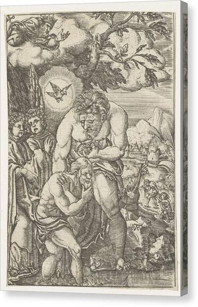River Jordan Canvas Print - Baptism Of Christ In The Jordan, Monogrammist Ac 16e Eeuw by Litz Collection
