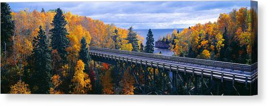 Landform Canvas Print - Baptism River Into Lake Superior by Panoramic Images
