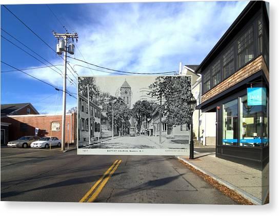 Brown University Canvas Print - Baptist Church In Warren Rhode Island by Jeff Hayden