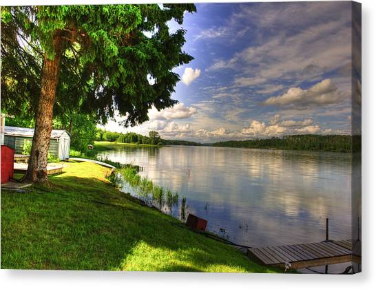 Baptiste Lake Canvas Print by Richard Dickinson