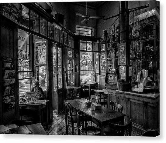 Coffee Shops Canvas Print - Bar De Cao by Hans Wolfgang M?ller