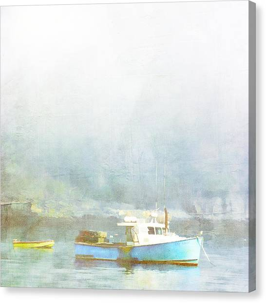 Harbor Canvas Print - Bar Harbor Maine Foggy Morning by Carol Leigh
