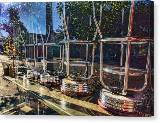 Bar Stools Up Canvas Print