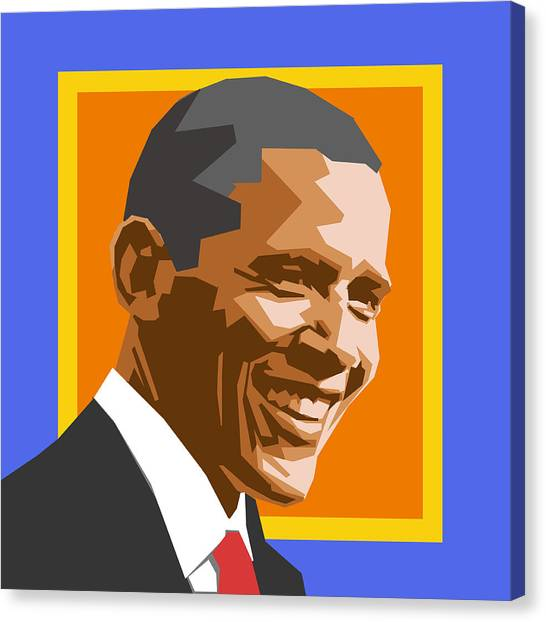 Barack Obama Canvas Print - Barack by Douglas Simonson