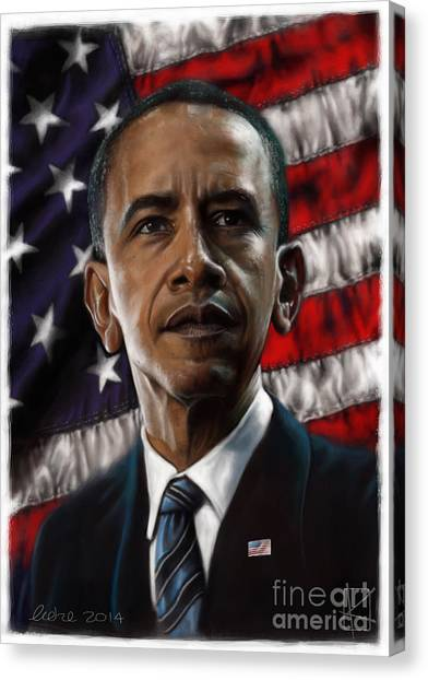 Barack Obama Canvas Print - Barack Obama by Andre Koekemoer