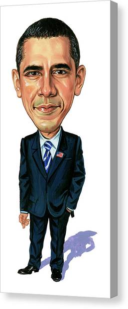 Barack Obama Canvas Print - Barack Obama by Art