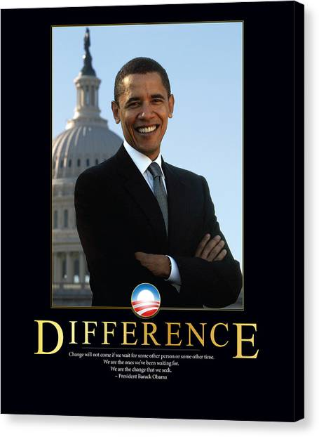 Barack Obama Canvas Print - Barack Obama Difference by Retro Images Archive