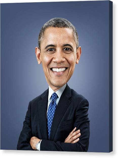 Republican Presidents Canvas Print - Barack Obama by Fitim Bushati