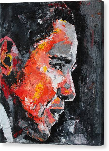 Barack Obama Canvas Print - Barack Obama by Richard Day