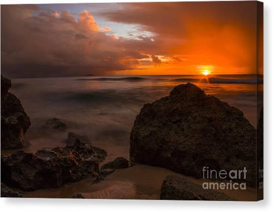 Cruise Ships Canvas Print - Barbados Sunset by Matt  Trimble