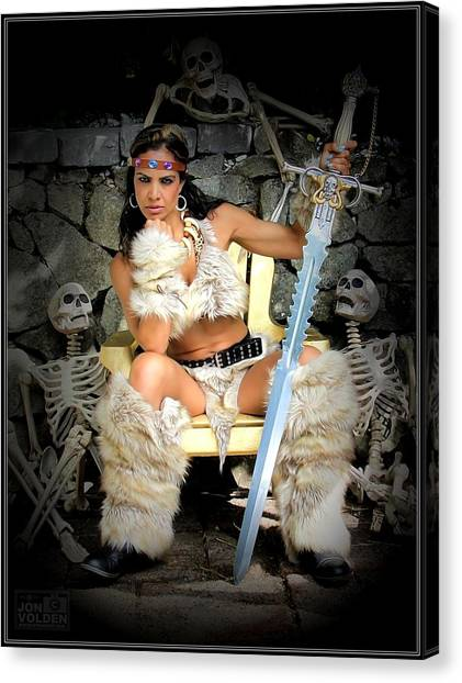 Barbarian Queen Canvas Print