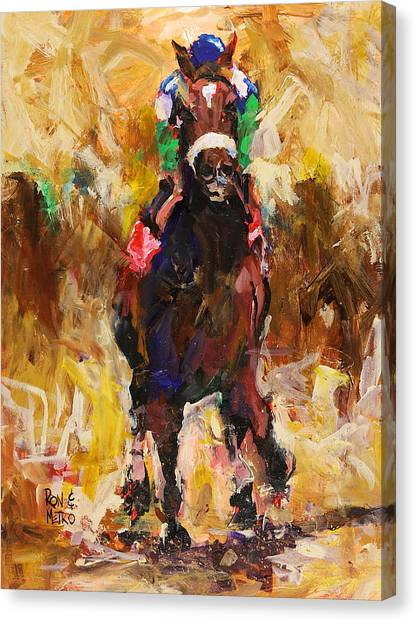 Kentucky Canvas Print - Barbaro by Ron and Metro