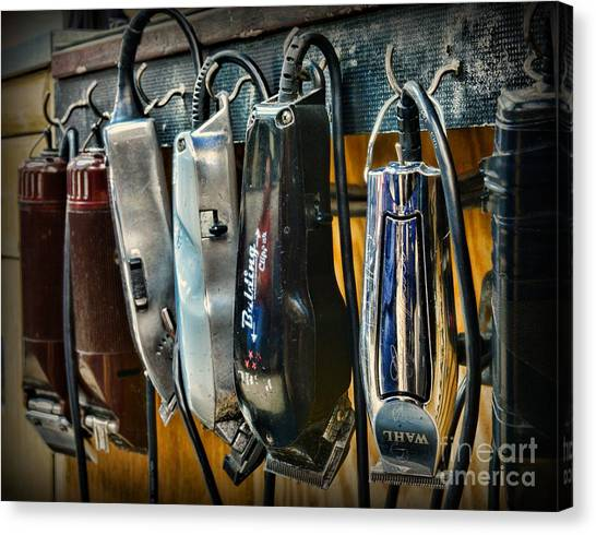 Ward Canvas Print - Barber -  Hair Clippers by Paul Ward